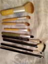 eBay Travel 11pcs Bamboo Cosmetic Brush + egyéb ecsetek