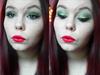 Karácsonyi smink #3 - Zöld szemek és vörös ajkak
