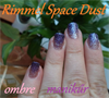 Rimmel Space Dust ombre manikűr