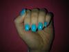 Kék mámor manikűr