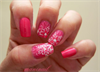 Pink jelly sandwich nailart